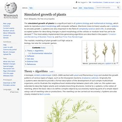 Simulated growth of plants - Wikipedia