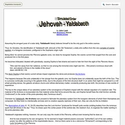 Simulated Order - Jehovah - Yaldabaoth