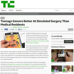 Teenage Gamers Better At Simulated Surgery Than Medical Residents
