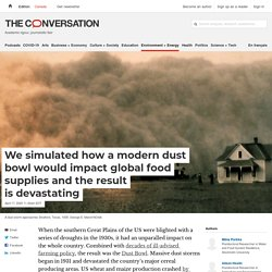 We simulated how a modern dust bowl would impact global food supplies and the result is devastating