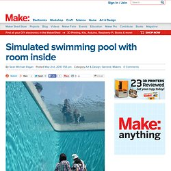 Simulated swimming pool with room inside @Makezine.com blog