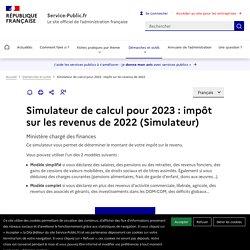 Simulateur de calculpour 2017 : impôt sur les revenus de 2016