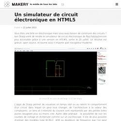 Un simulateur de circuit électronique en HTML5