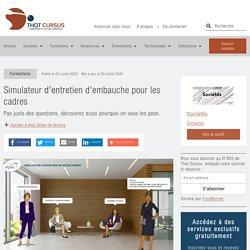 Simulateur d'entretien d'embauche pour les cadres - Thot Cursus