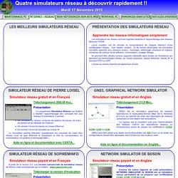 Simulateur réseau : Simuler un réseau informatique avant de le construire...