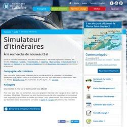 Simulateur d'itinéraires - Outils - Passagers - Croisières sur le fleuve Saint-Laurent au Québec