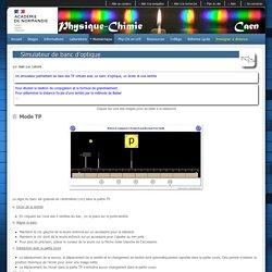 Simulateur de banc d'optique - Physique Chimie Caen