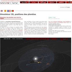 Simulateur en ligne, orbites de révolution des planètes — Astronoo