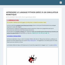 Apprendre le langage Python grâce à un simulateur robotique