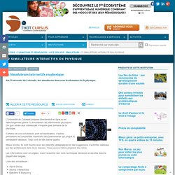 72 Simulateurs interactifs en physique