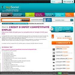 Calcul simulation cice credit impot competitivite emploi LégiSocial