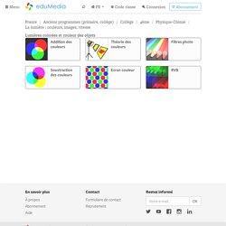 Lumières colorées et couleur des objets – simulation, animation interactive, video