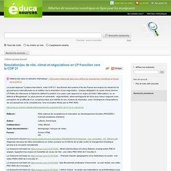 Simulation/jeu de rôle, climat et négociations en LP francilien vers la COP 21
