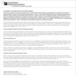 La simulation, une nouvelle voie pour la formation médicale / Espace presse / Accueil / ParisDescartes - Universite Paris Descartes