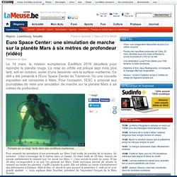 Euro Space Center: une simulation de marche sur la planète Mars à six mètres de profondeur