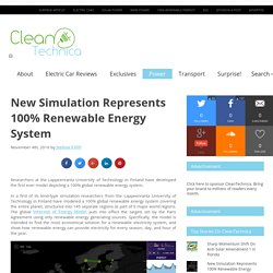 New Simulation Represents 100% Renewable Energy System