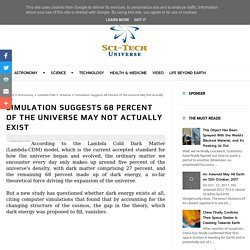 Simulation Suggests 68 Percent of the Universe May Not Actually Exist - Sci-Tech Universe