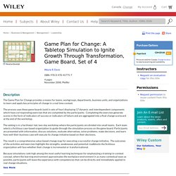 Game Plan for Change: A Tabletop Simulation to Ignite Growth Through Transformation, Game Board, Set of 4 - Wayne R. Davis