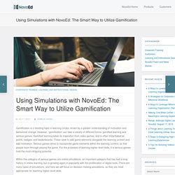 Using Simulations with NovoEd: The Smart Way to Utilize Gamification - NovoEd Blog