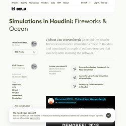 Simulations in Houdini: Fireworks & Ocean