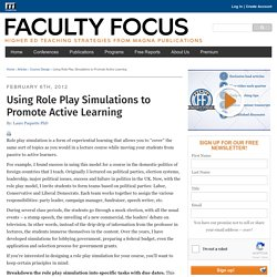 Using Role Play Simulations to Promote Active Learning