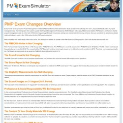 PMP Exam Simulator (PRACTICE) - PMP Exam Changes Overview