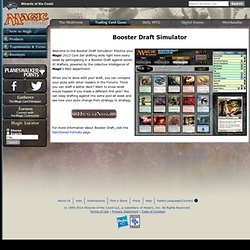 Booster Draft Simulator : Resources : Trading Card Game : Magic: The Gathering