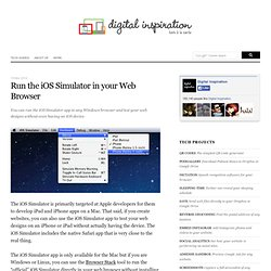 How to Run the iOS Simulator App in Windows for Testing Websites