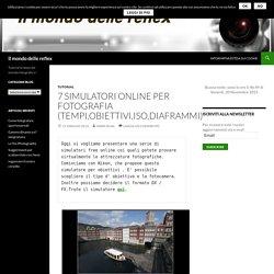 7 Simulatori online per fotografia (tempi,obiettivi,iso,diaframmi) – Il mondo delle reflex