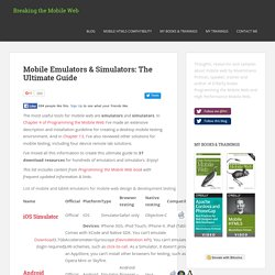 Mobile Emulators and Simulators - The ultimate guide to mobile developers | Mobile Web Programming