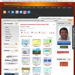 Simulazioni di matematica e scienze online: PhET