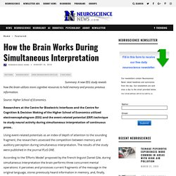 How the Brain Works During Simultaneous Interpretation