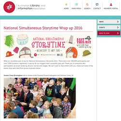 National Simultaneous Storytime Wrap up 2016