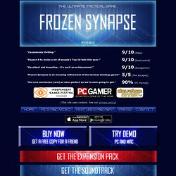 Frozen Synapse: A Simultaneous Turn-Based Strategy Game / Turn-Based Tactical Game!