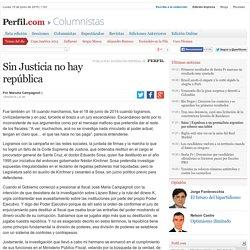 Sin Justicia no hay república