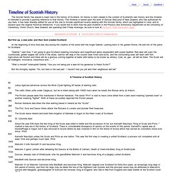 SINCLAIR HISTORY AND GENEALOGY: Timeline of Scottish History