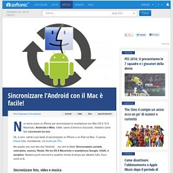 Sincronizzare l'Android con il Mac è facile!