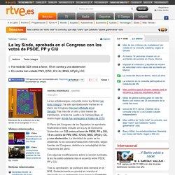 La ley Sinde, aprobada en el Congreso con los votos de PSOE, PP y CiU