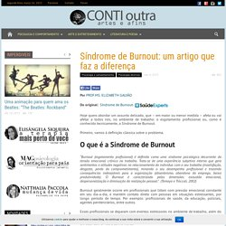 Síndrome de Burnout: um artigo que faz a diferença
