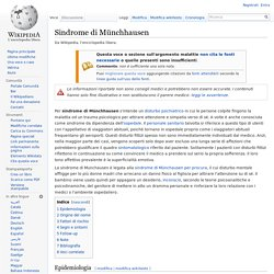 Sindrome di Münchhausen