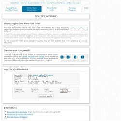 Online Sine Tone Wave File Generator