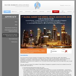 Silver Ribbon (Singapore) - Advocacy - 1st Global Summit for Mental Health Advocates
