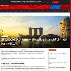 Singapore Economy - attractive financial climate for investors