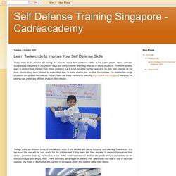 Self Defense Training Singapore - Cadreacademy: Learn Taekwondo to Improve Your Self Defense Skills