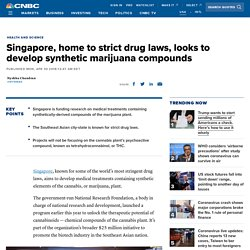 Singapore funds research on synthetic cannabinoids