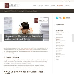 Singapore's Children Are Drowning in Homework and Stress