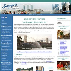 Singapore City Tour - By a Hop on Hop off Open-Top Bus