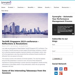 Our Take on TechHR Singapore Conference