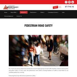 Pedestrian road safety practices