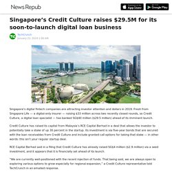 Singapore's Credit Culture raises $29.5M for its soon-to-launch digital loan business